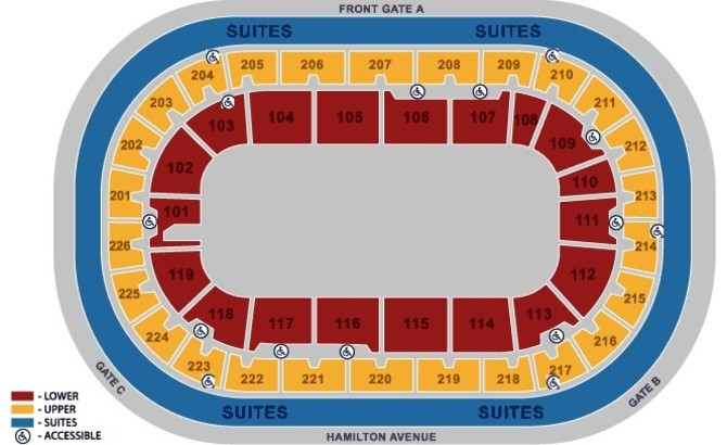 seating charts cure insurance arena. Black Bedroom Furniture Sets. Home Design Ideas