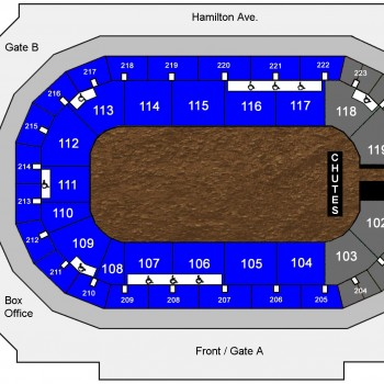Bill Pickett Rodeo seating chart