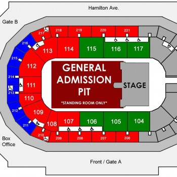 GHOST The Ultimate Tour Named Death Seating Chart