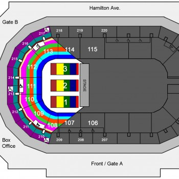 Sesame Street Live! Let's Party! seating chart