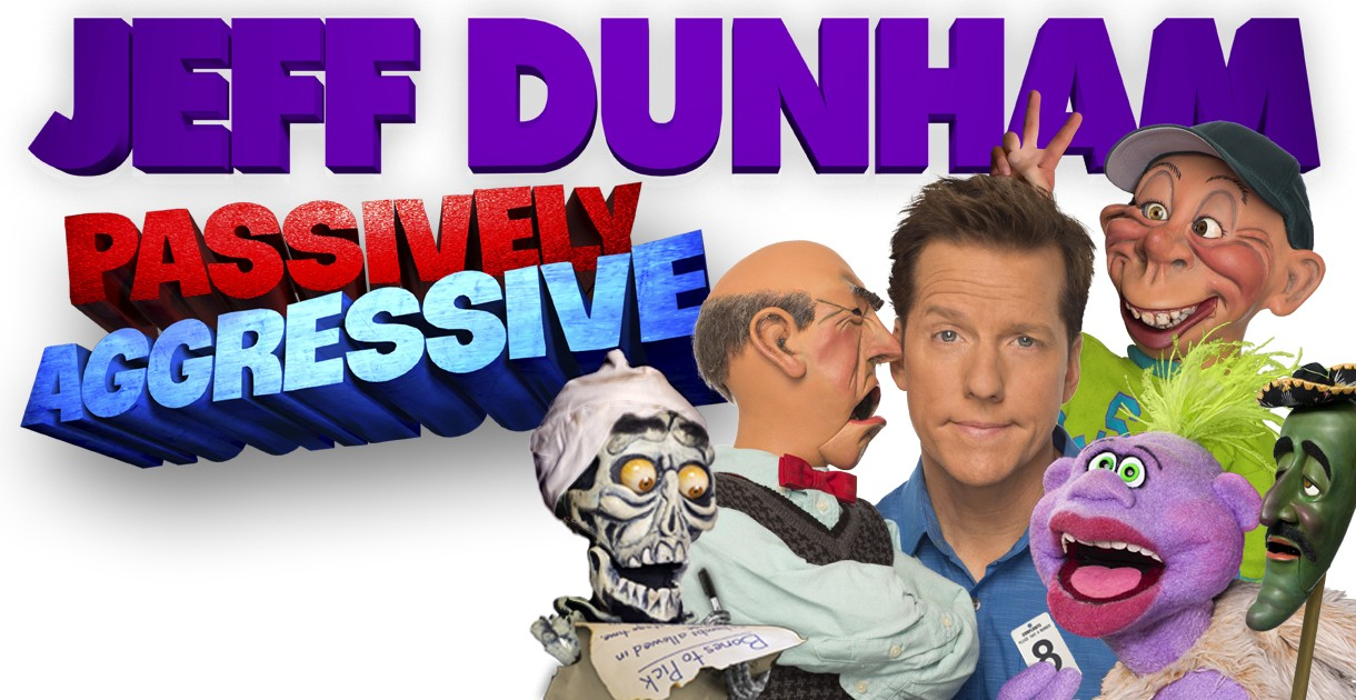 Jeff Dunham poster with characters.